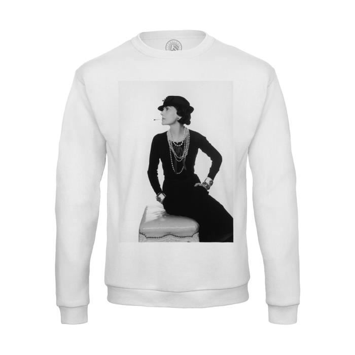2a1ae93b81b1 Sweat Shirt Homme Photo de Star Célébrité Coco Chanel Créatrice Mode  Original