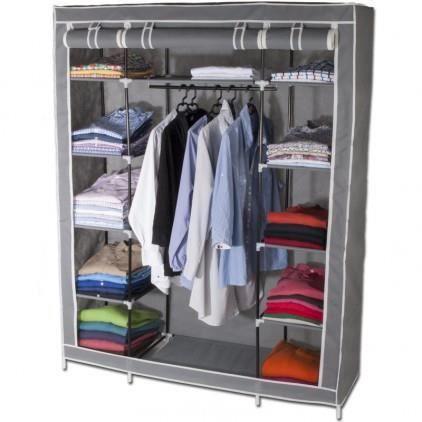 Armoire de rangement dressing xxl coloris gris achat vente armoire de c - Cdiscount armoire de rangement ...