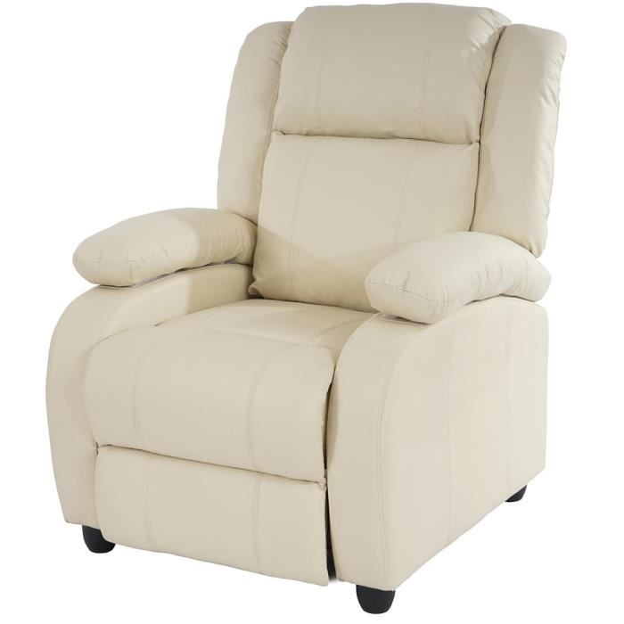 Fauteuil Inclinable Relax Lincoln En Polyurétha Achat Vente - Fauteuil inclinable