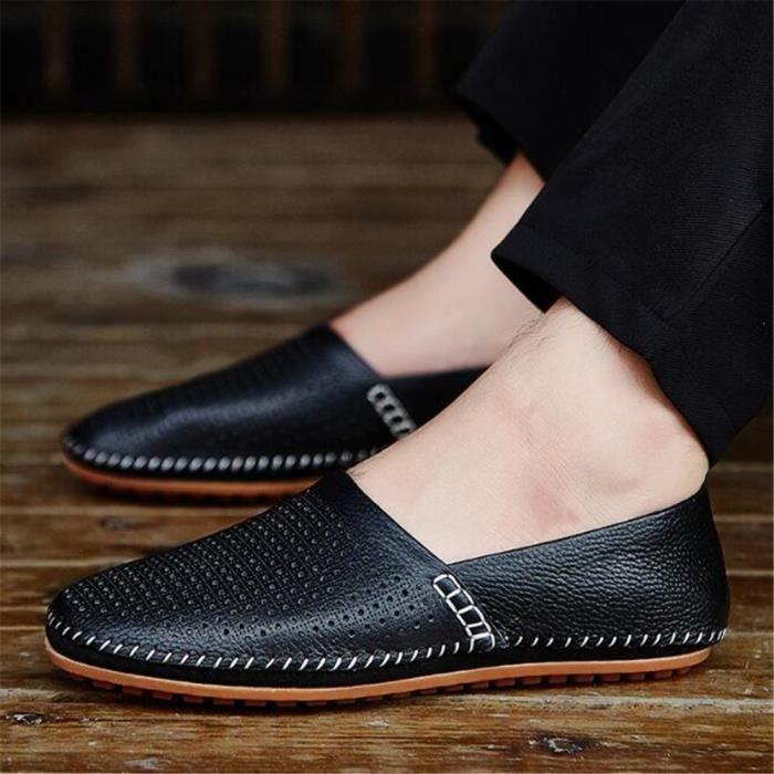 Chaussures homme En Cuir perforé Nouvelle Mode Moccasin hommes Marque De Luxe Poids Léger Haut qualité Loafer Grande