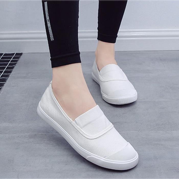 Mokassin Unisexe De Shoes Plat Toile Automne Minetom Été Femme Homme Chaussures Slip Baskets Loafers On Pw0SA