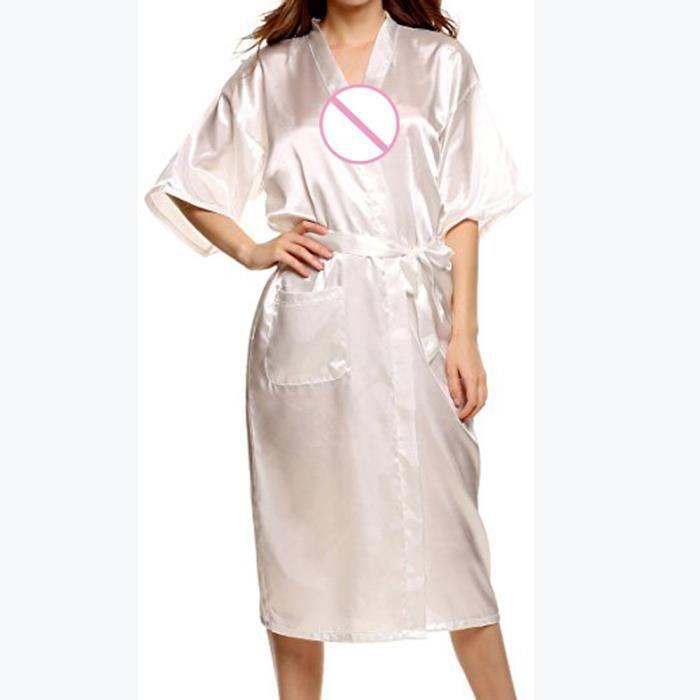 Classique Lounge De wsk296 Femmes Satin Longues Ceinture Pyjamas Nuit Sexy Vêtements Robes wqqzXxPtp