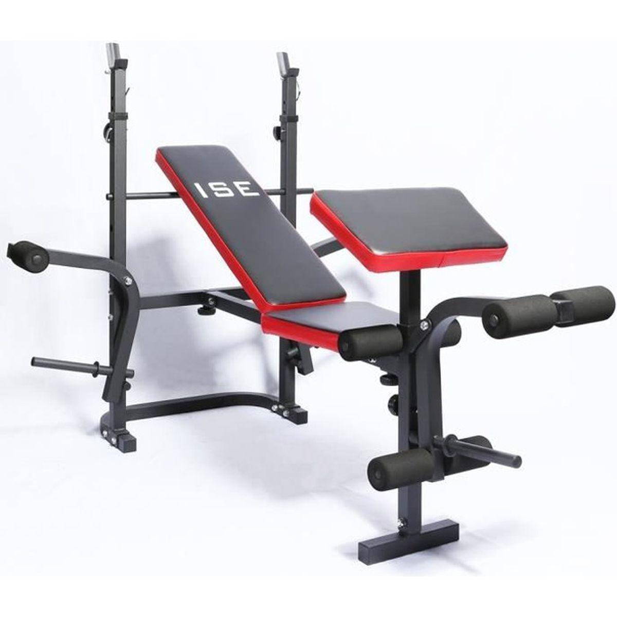 Ise Banc De Musculation Multifonction Mixte Réglable Pliable