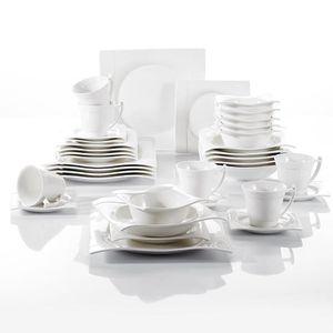 SERVICE COMPLET Vancasso AURORA 36pcs Service de Table Porcelaine