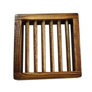 DISTRIBUTEUR DE SAVON titulaire plat support bois bambou boîte porte sav