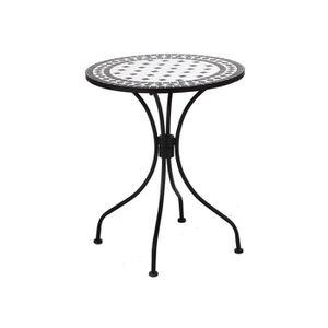 TABLE À MANGER SEULE Table ronde en céramique et acier diamètre 60cm no