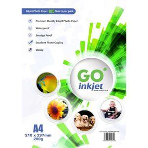 PAPIER PHOTO GO Inkjet - 100 Feuilles de papier photo 200gm for