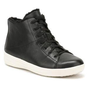 BASKET FitFlop femme Noir F-Sporty Sneakerboots Baskets-U