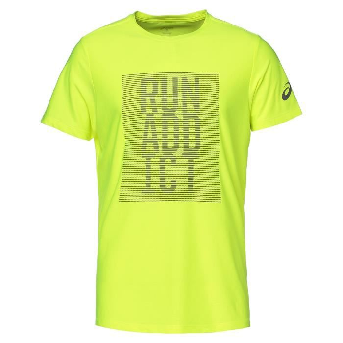 ASICS Graphic Tee shirt manches courtes Homme - Jaune