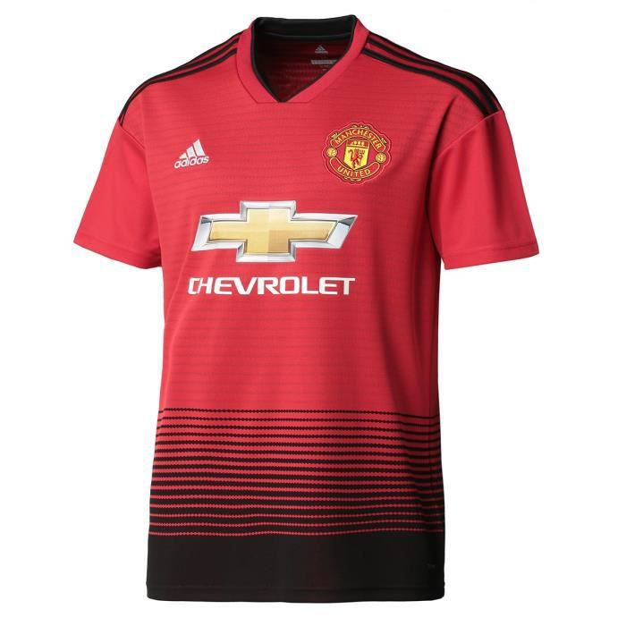 ADIDAS Maillot de football Manchester United FC Dom 18 - Mixte - Rouge