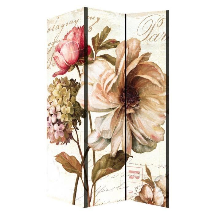 Matière : toile - Dimensions : 170x120 cm - Coloris : multicolorePARAVENT