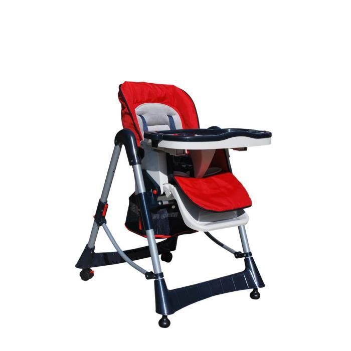 CHAISE HAUTE Chaise Haute De Bb Rouge Enfant Pliable Confort