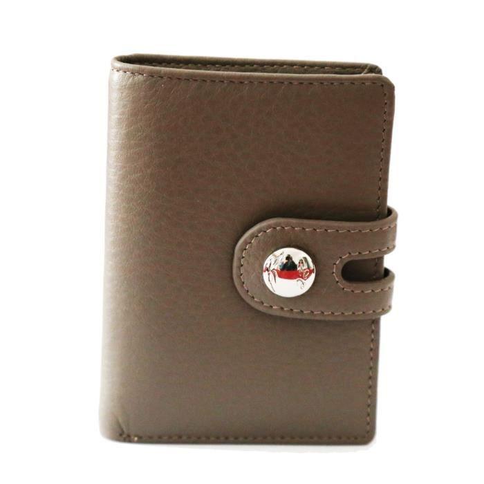 Fancil-Porte Cartes cuir couleur taupe Gris taupe - Achat / Vente ...