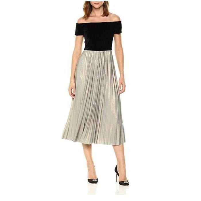dd1cae75738 jupe plissée Robe longue Femme Chic 2018 Printemps Ete - paillettes - 187
