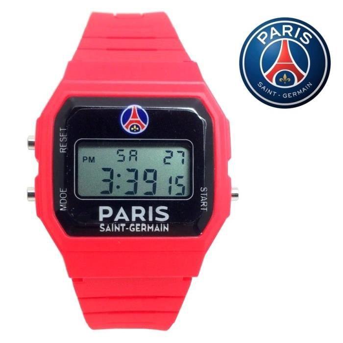 idee cadeau psg MONTRE PSG OFFICIEL PARIS ST GERMAIN ROUGE DIGITALE CHAMPIONS  idee cadeau psg