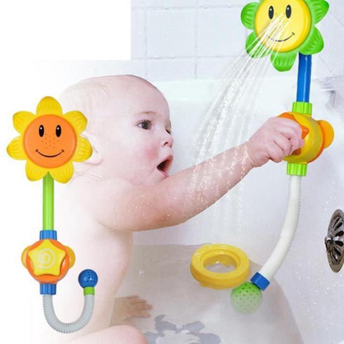 Jouets de bain de b b pour enfants salle de douche pour enfants spray de tournesol jouets d 39 eau - Temperature salle de bain pour bebe ...