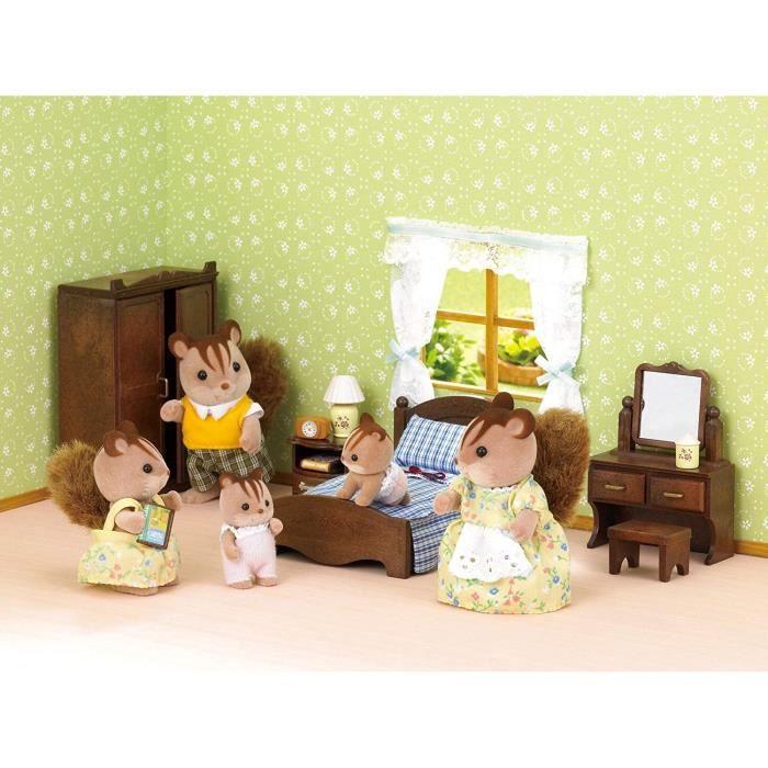 FIGURINE - PERSONNAGE SYLVANIAN FAMILIES 5039 - Set Chambre des Parents
