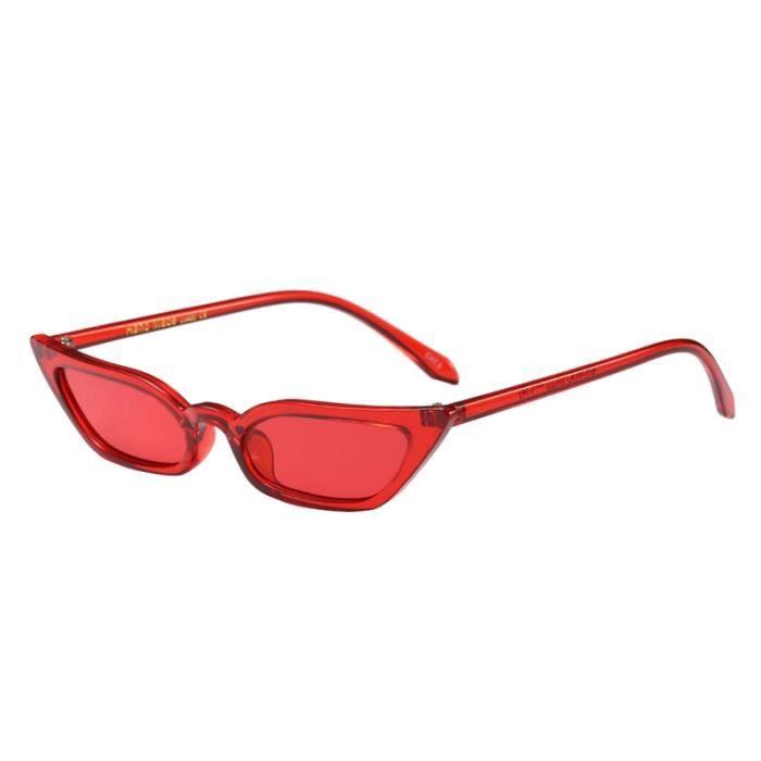 Hommes Femmes Cateye Lunettes de soleil, rouge