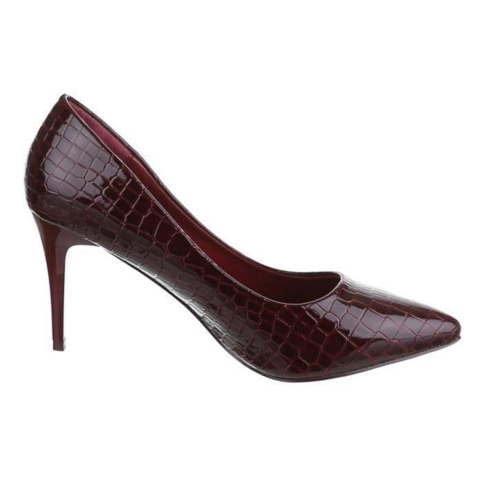 Chaussures femmes Escarpins Talon haut classique marron