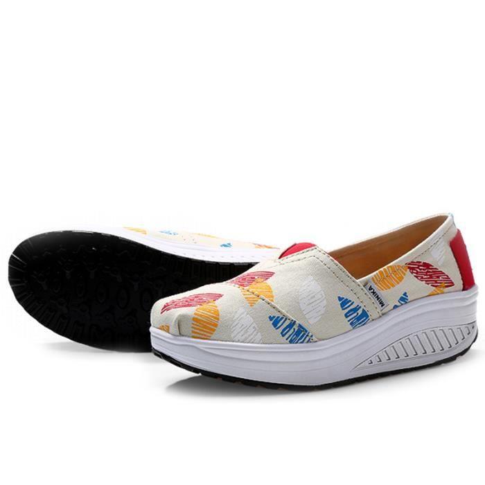 Chaussures Femmes Mode Detente Durable fond épais Chaussure YLG-XZ087Gris37