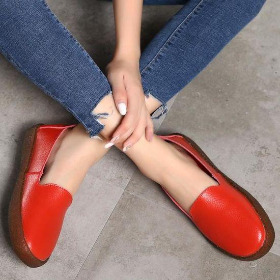 En À Bottes Bout Femmes Q4191 Hexq Mode Verni Martin Enfiler Foncé Chaussures Plates Occasionnels Carré Cuir gris qU8Rxpw