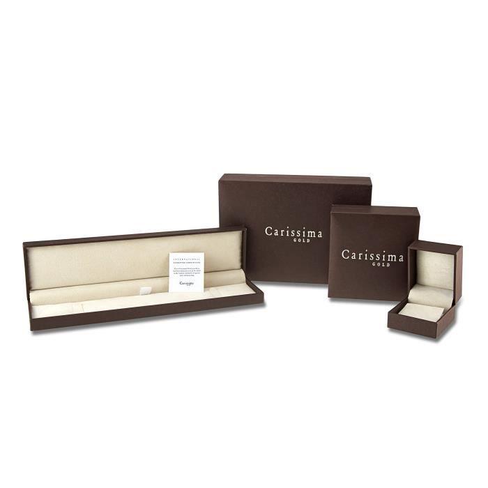Collier - Femme - Or Jaune 375-1000 (9 Cts) 2.05 Gr - Diamant - 46 Cm Z8P0R