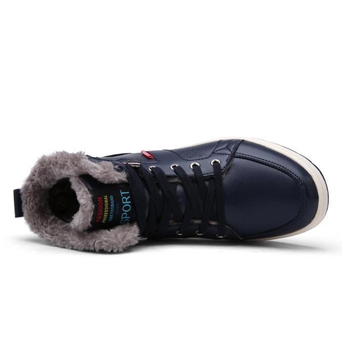 20171028002-1-40-bleu39-48 hiver hommes chaussures chaudes
