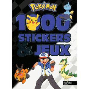 LIVRE JEUX ACTIVITÉS 1000 stickers et jeux Pokémon
