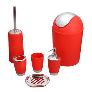 Accessoires salle de bain rouge - Achat / Vente Accessoires salle ...