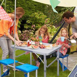 TABLE DE JARDIN  Table Support Plateau Réglable Pliant Portable en