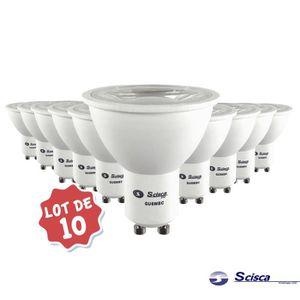 AMPOULE - LED Lot de 10 Ampoules LED COB GU10 6W   Blanc Chaud 3