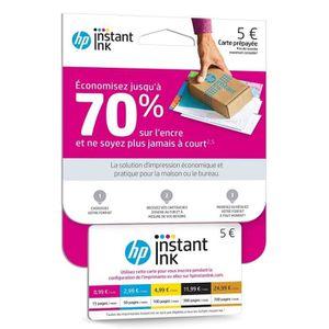 CARTOUCHE IMPRIMANTE HP Carte Instant ink avec Forfait jusqu'à 15 pages