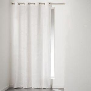 Rideau velours blanc - Achat / Vente pas cher