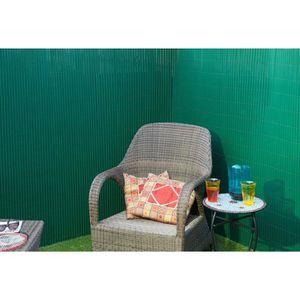 CLÔTURE - GRILLAGE Nature Brise-vue de jardin 1.5x3 m PVC Vert 605033