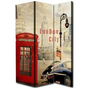 PARAVENT LONDON Paravent en toile 170x120 cm multicolore