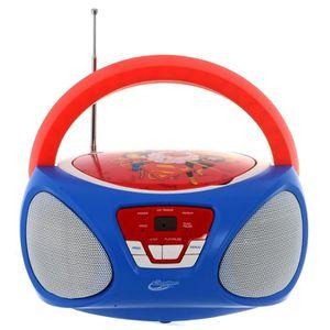 RADIO CD ENFANT SUPER HERO GIRLS Lecteur CD enfant Boombox