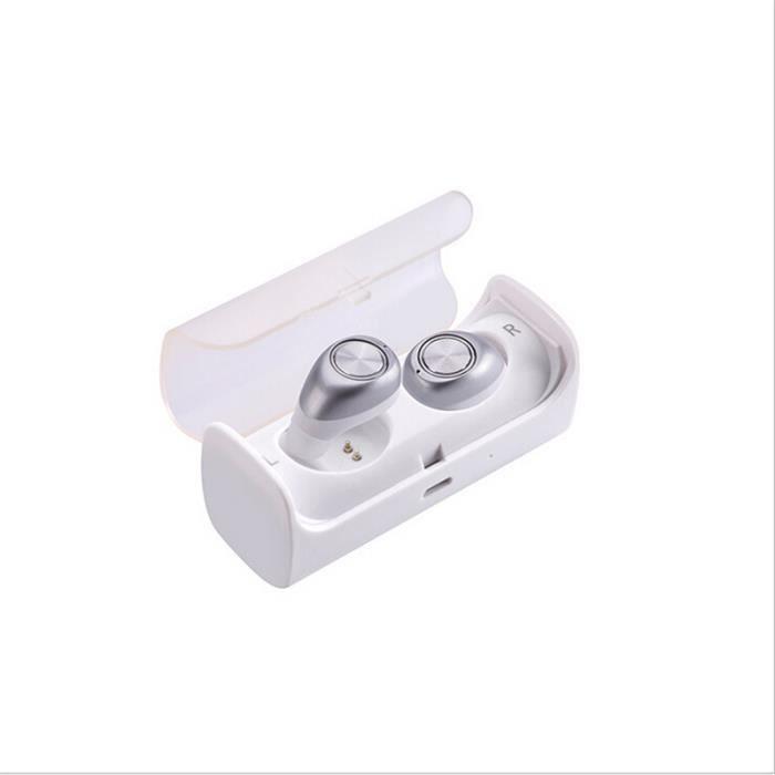 Ecouteur Bluetooth Sans Fil Sport Argent Oreillette Avec Microphone Marque De Luxe