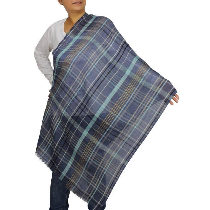 Indien écharpe Accessoire moderne motif rayé Laine Silk Blend Y8OF0 ... f351f2ed2b0