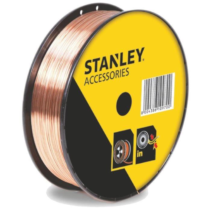 stanley 460639 bobine fil inox pour soudure mig mag sans gaz 0 8 mm 1 kg achat vente. Black Bedroom Furniture Sets. Home Design Ideas