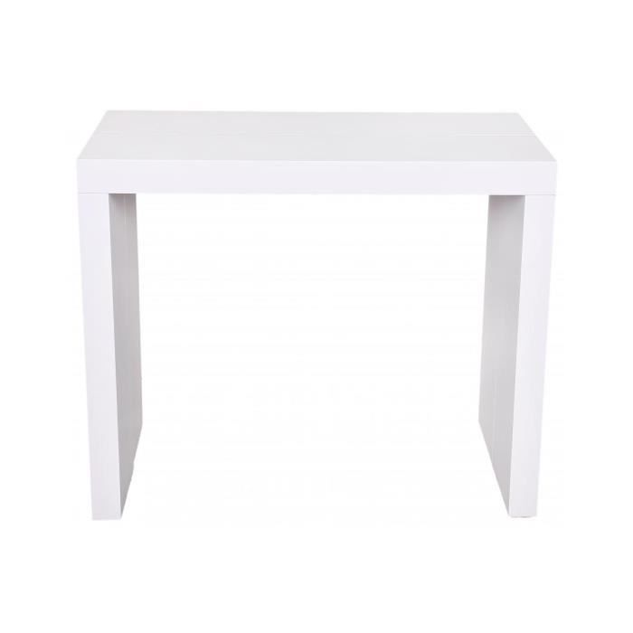 Console Extensible Blanche 225cm Mat Mayline Declikdeco Achat
