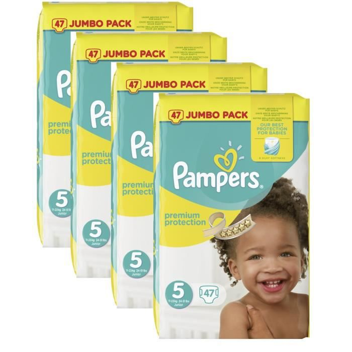 Pampers Premium Protection Baby Taille 5 Junior 11 23kg Jumbopack