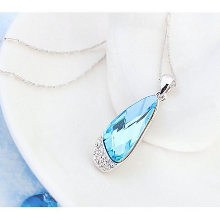 Cristaux Swarovski et Preciosa Strass Collier diamant pendentif de femmes. Tous les jours - Tenues de soirée Fashio U7Z9R