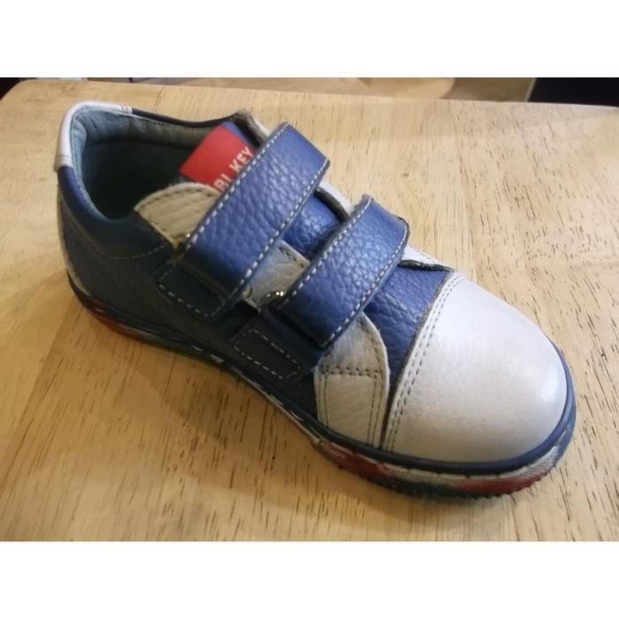 Chaussures garçons Baskets bleues Bikey P24