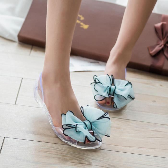 Fleur Chaussons 5628 Jelly Plates De Été Femmes Plage Bow Chaussures Tongs Sandales qgwaHnZWxE