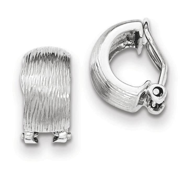 7,5 mm argent Sterling taille diamant Omega dos Boucles doreille