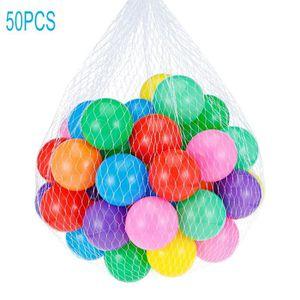 BALLE - BOULE - BALLON 50pcs/lot Boules Océan Plastique Boules Colorées d