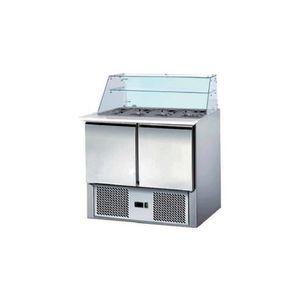ARMOIRE RÉFRIGÉRÉE Saladette réfrigérée avec vitrine d'exposition - 2
