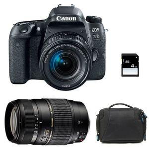 APPAREIL PHOTO RÉFLEX CANON EOS 77D + EF-S 18-55 mm f/3.5-5.6 IS STM + T