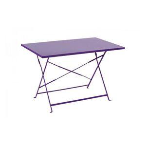 Table jardin metal pliante rectangulaire - Achat / Vente pas cher