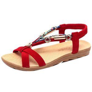 047751cdad3113 SANDALE - NU-PIEDS Sandales d'été femmes chaussures peep-toe basses c